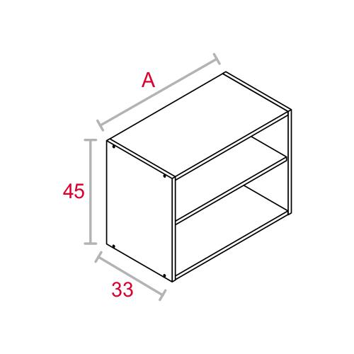 M dulo de cocina alto blanco 45x33 cat logo maderas acu a - Modulos de cocina ...