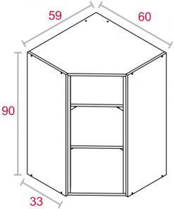 Modulo de cocina Superior Rinconero 90