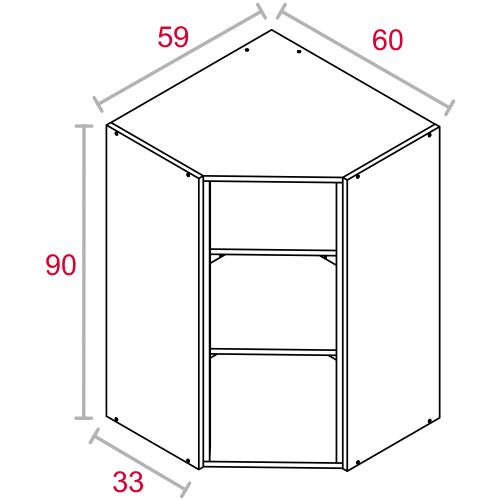 M dulo de cocina alto blanco 90x60 rinconera cat logo - Modulos de cocina ...