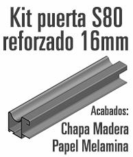 Kit Puerta Corredera Armario Rechapado