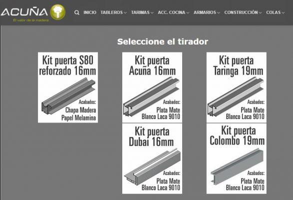 Herramienta cálculo Kit Puerta Corredera