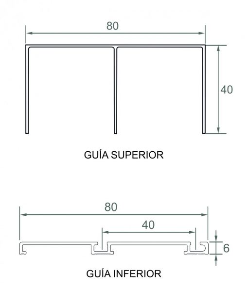 Kit Guia Puerta Corredera