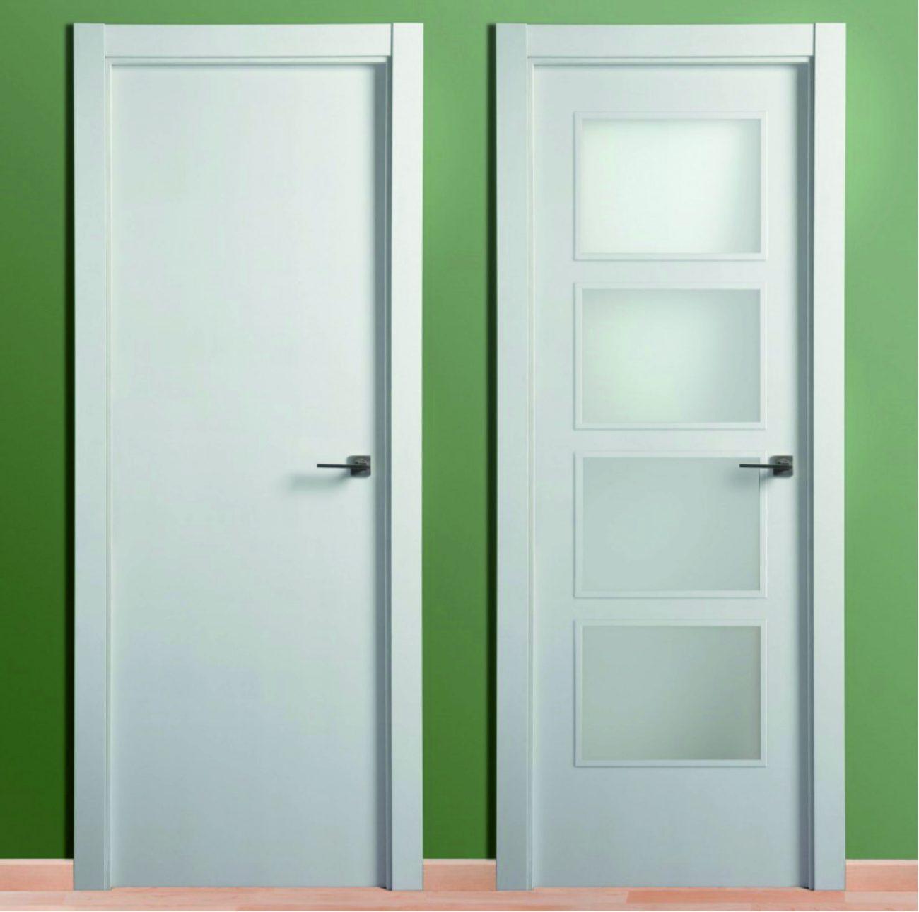 puerta lacada blanca lisa 9003 cat logo maderas acu a