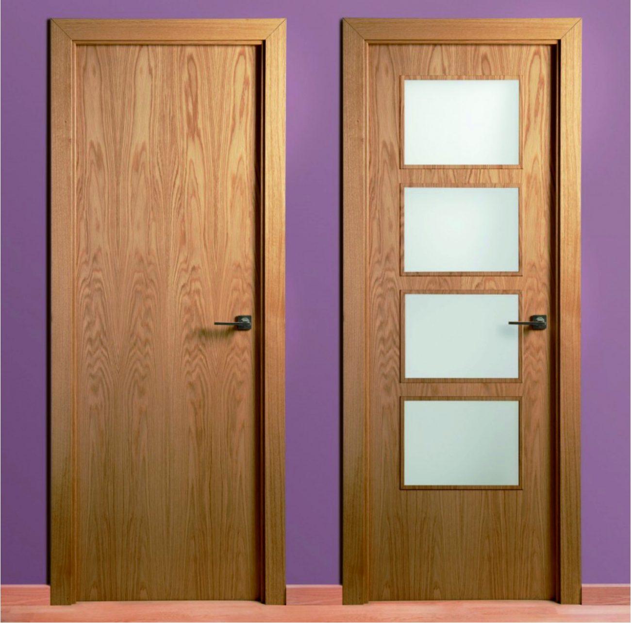 Puerta de madera roble lisa cat logo maderas acu a for Precio puerta roble