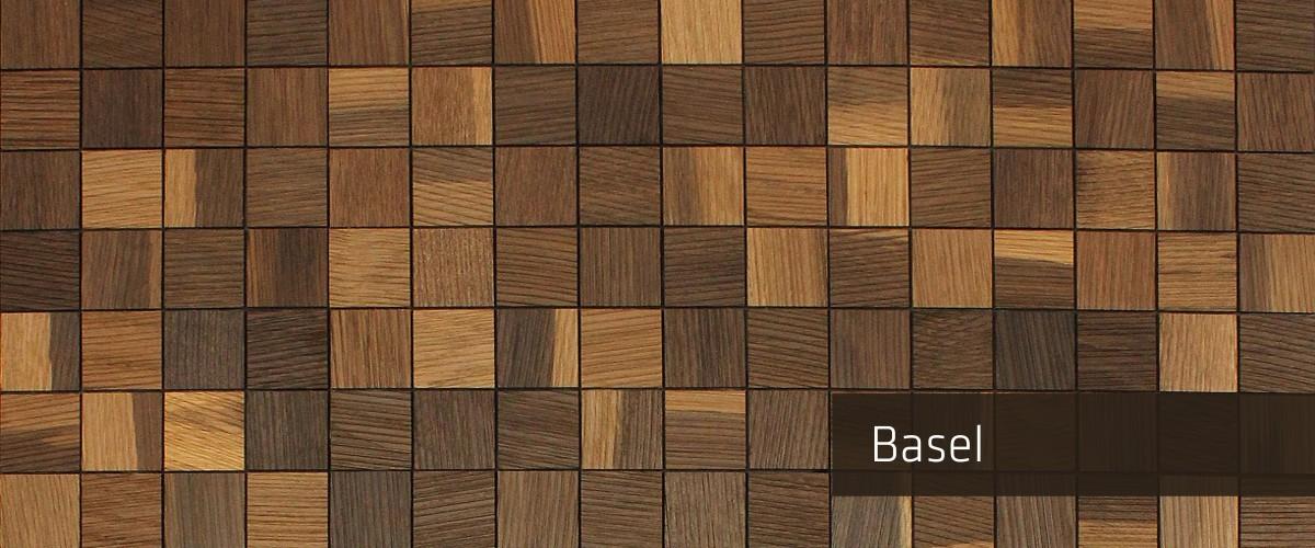 Panel Madera Mosaico Basel Oscuro