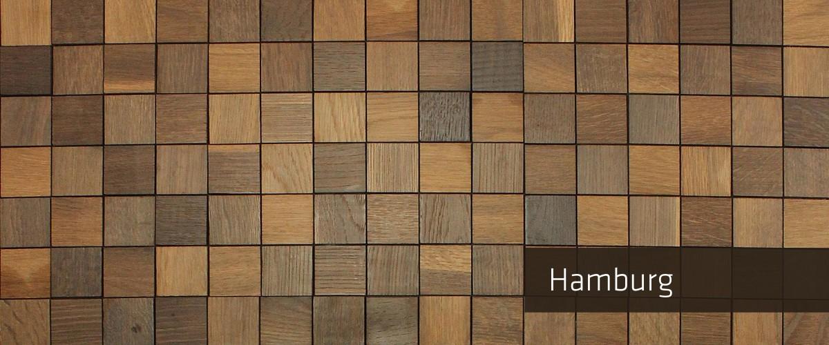 Panelado Madera Hambuerg Oscuro-Mosaico Madera