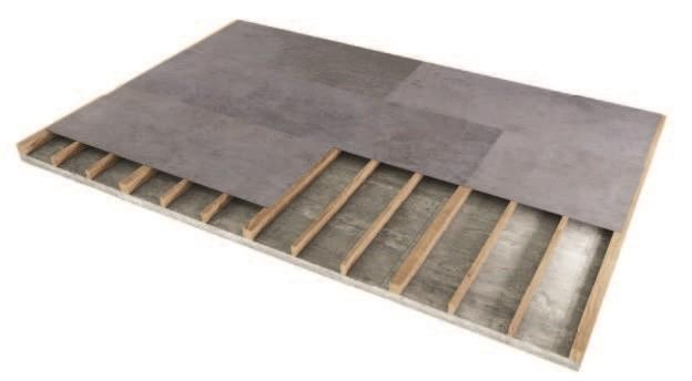 Tablero Viroc utilizado en suelos